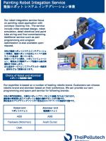 Datasheet หุ่นยนต์พ่นสี